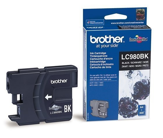 Brother LC980BK DCP-145C/165C/195C/MFC-250/290 Czarny (Oryg.)