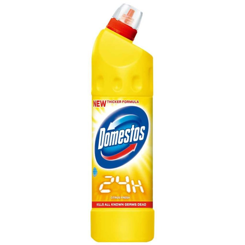 Domestos Płyn do WC 750ml 24H Citrus Fresh (żółty)